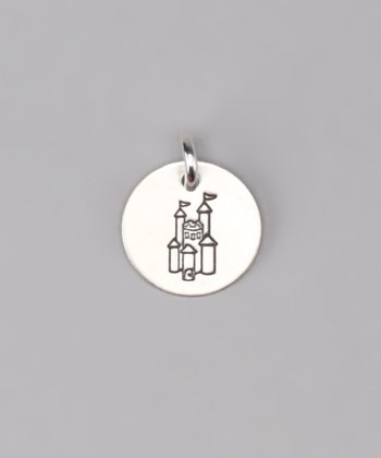 Sterling Silver Princess Castle Charm