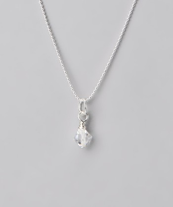 Clear & Sterling Silver Necklace Made With SWAROVSKI ELEMENTS