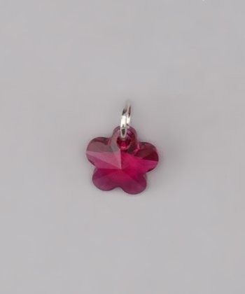 Fuchsia Flower Charm Made With SWAROVSKI ELEMENTS