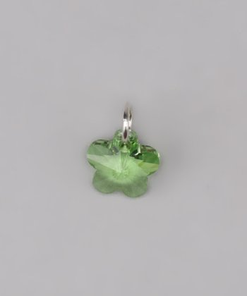 Green Flower Charm Made With SWAROVSKI ELEMENTS