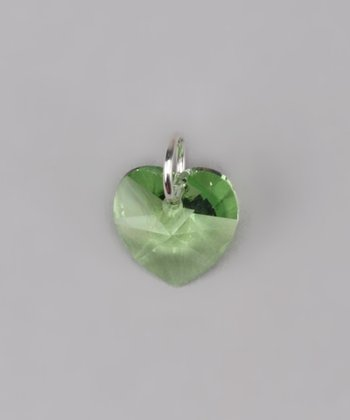 Peridot Heart Charm Made With SWAROVSKI ELEMENTS