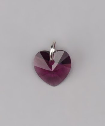 Amethyst Heart Charm Made With SWAROVSKI ELEMENTS
