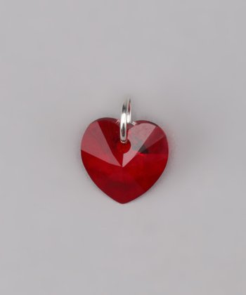 Siam Heart Charm Made With SWAROVSKI ELEMENTS