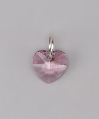 Light Amethyst Heart Charm Made With SWAROVSKI ELEMENTS