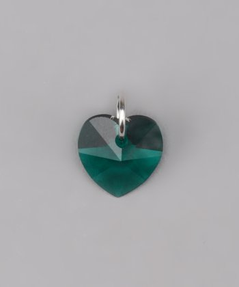 Emerald Heart Charm Made With SWAROVSKI ELEMENTS