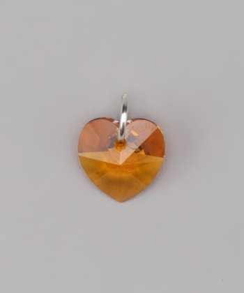 Topaz Heart Charm Made With SWAROVSKI ELEMENTS