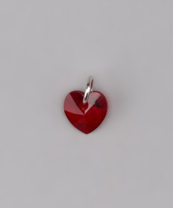 Siam Tiny Heart Charm Made With SWAROVSKI ELEMENTS