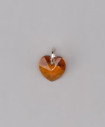 Topaz Tiny Heart Charm Made With SWAROVSKI ELEMENTS