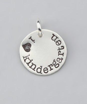 Five Little Birds Jewelry Sterling Silver 'I Love Kindergarten' Charm