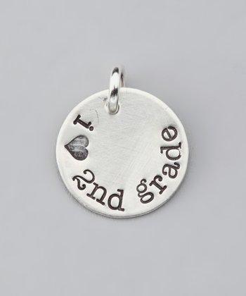 Five Little Birds Jewelry Sterling Silver 'I Love 2nd Grade' Charm