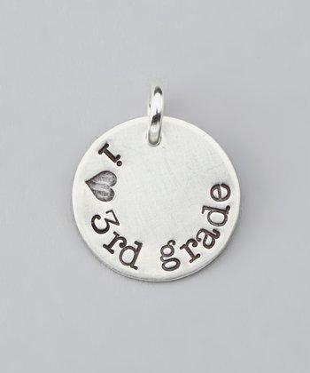 Five Little Birds Jewelry Sterling Silver 'I Love 3rd Grade' Charm