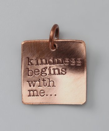 Copper Deluxe 'Kindness' Square Charm