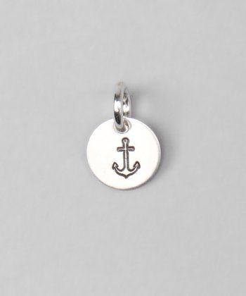 Sterling Silver Anchor Disc Charm