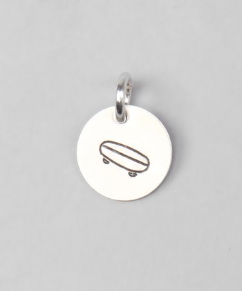 Sterling Silver Skateboard Disc Charm