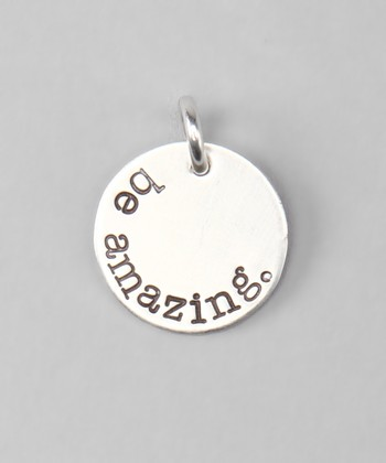 Five Little Birds Jewelry Sterling Silver 'Be Amazing' Charm
