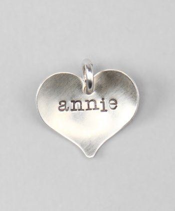 Sterling Silver Straight Heart Personalized Charm