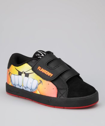 Flameboy by World Industries Black Flame First Pump Sneaker