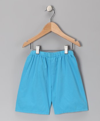 Azure Brushed Twill Shorts - Infant, Toddler & Boys