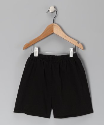 Black Brushed Twill Shorts - Infant, Toddler & Boys