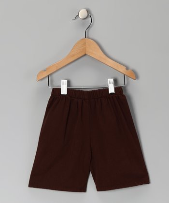 Chocolate Brown Brushed Twill Shorts - Infant & Boys