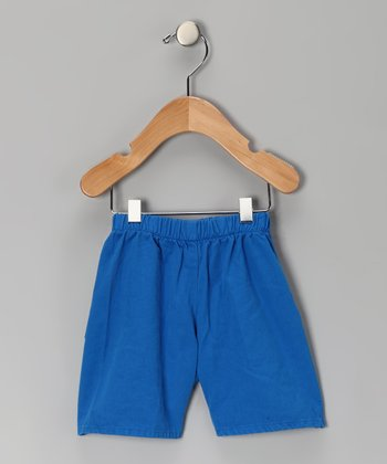 Cobalt Brushed Twill Shorts - Infant, Toddler & Boys