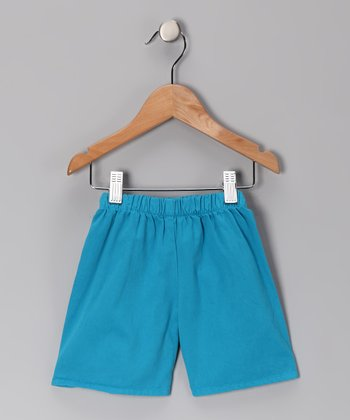 Turtle Blue Brushed Twill Shorts - Infant, Toddler & Boys