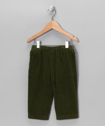Army Green Corduroy Pants - Infant, Toddler & Boys