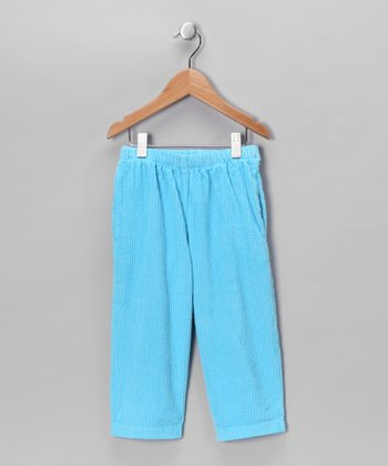 Lantern Blue Corduroy Pants - Toddler