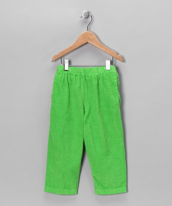 Lime Corduroy Pants - Infant, Toddler & Boys