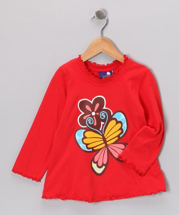 Red Country Butterfly Tee - Infant & Girls