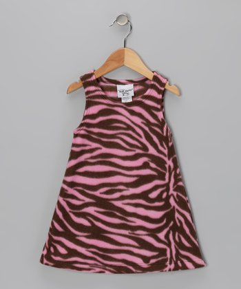 Zebra Diva Fleece Dress - Infant