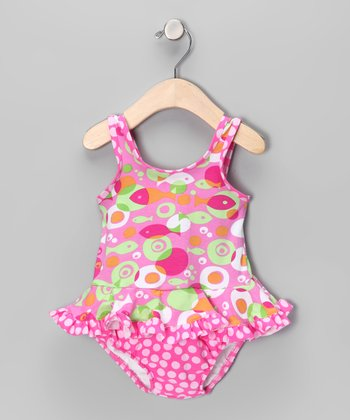 Mod Fish Skirted One-Piece - Infant