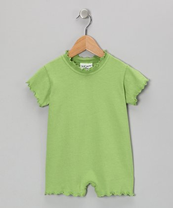 Moss Lettuce-Edge Romper - Infant