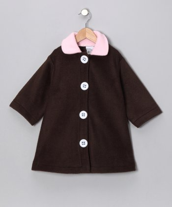 Chocolate Brown Swing Coat - Toddler & Girls
