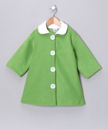 Lime Swing Coat - Girls