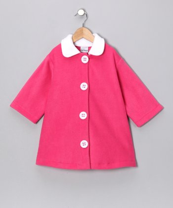 Hot Pink Swing Coat - Toddler & Girls