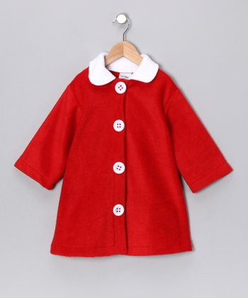 Red Swing Coat - Toddler & Girls
