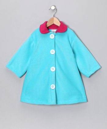 Turquoise Swing Coat - Toddler & Girls