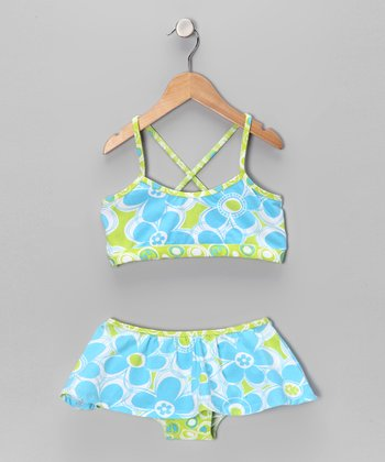Flap Happy Doris Daisy Skirted Bikini - Toddler & Girls