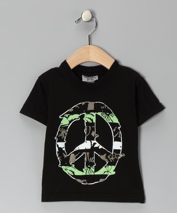 Black Peace South Pacific Stripe Tee - Infant