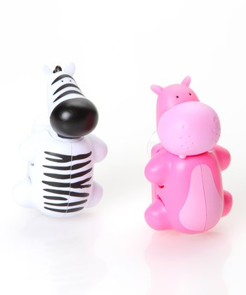 Hippo & Zebra Toothbrush Cover Set