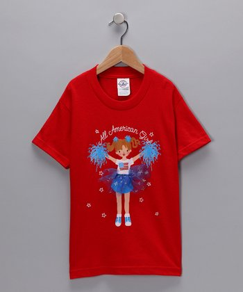 Red 'All American Girl' Tee - Toddler & Girls
