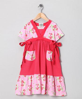 Pink & Red Frances Miss Priss Dress - Toddler & Girls