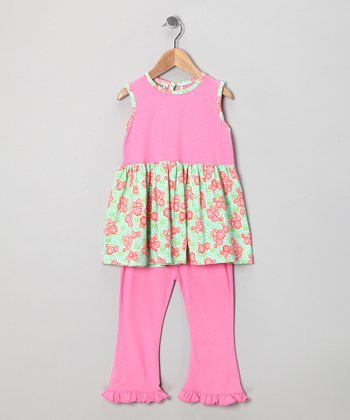 Pink Georgianne Clary Tank & Pants - Infant & Toddler