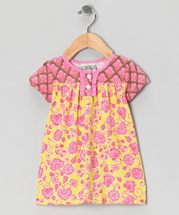 Pink & Yellow Parker Betsy Dress - Infant