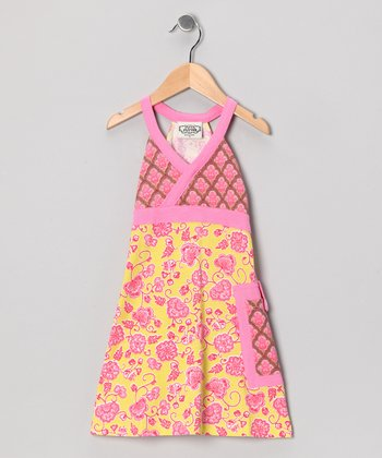 Pink & Yellow Parker Tuesday Dress - Toddler & Girls