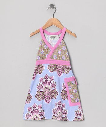 Purple & Blue Shannon Tuesday Dress - Toddler & Girls