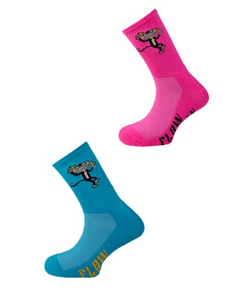 Fuchsia & Turquoise Monkey Socks Set