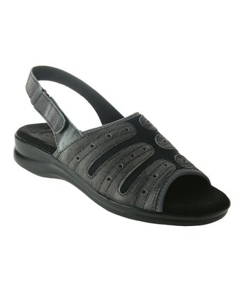 Black Newport Leather Sandal