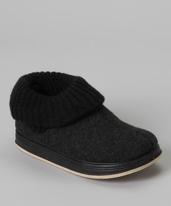 Black Max Wool Slipper